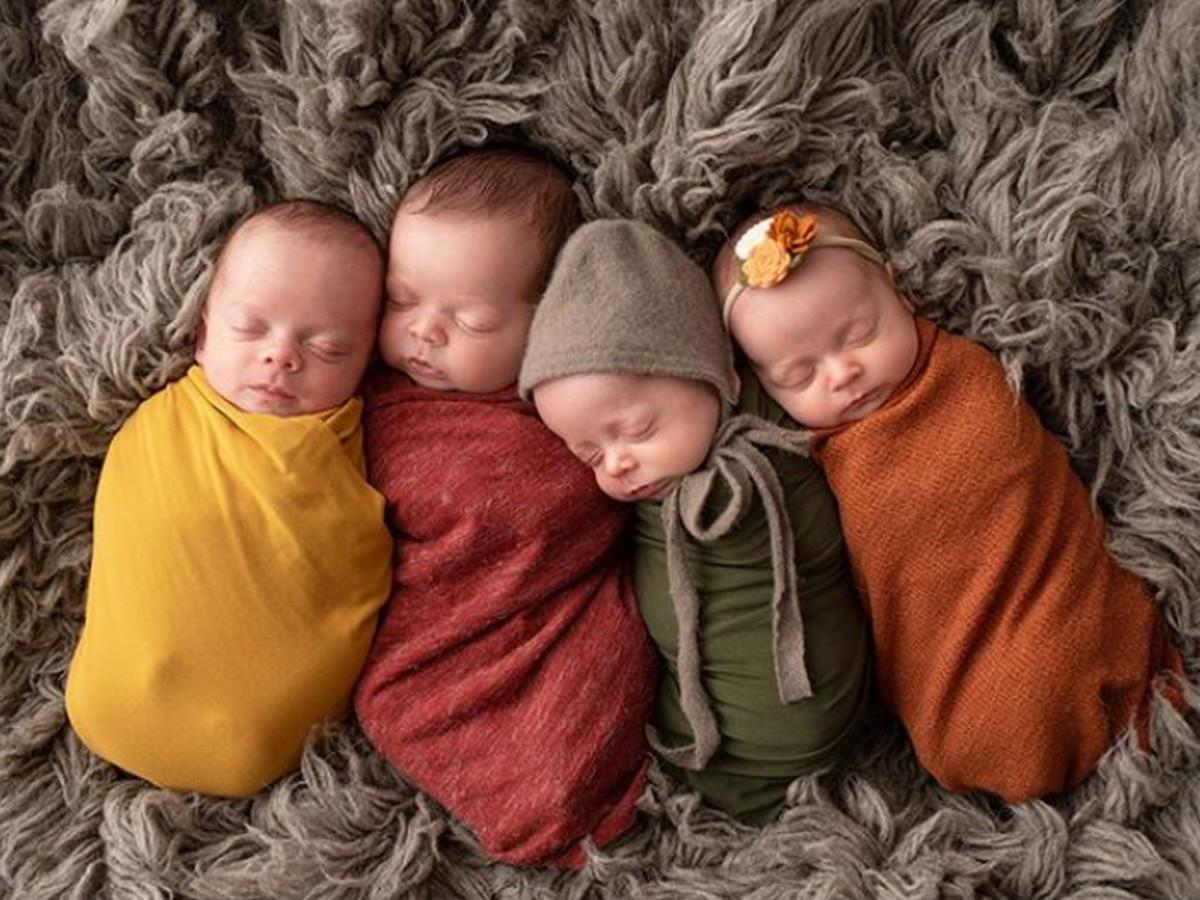 Молодожены усыновили четверых детей, а потом у них родились четверняшки