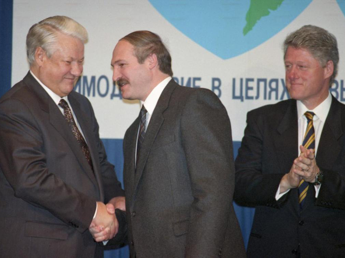 Ельцин Лукашенко Клинтон