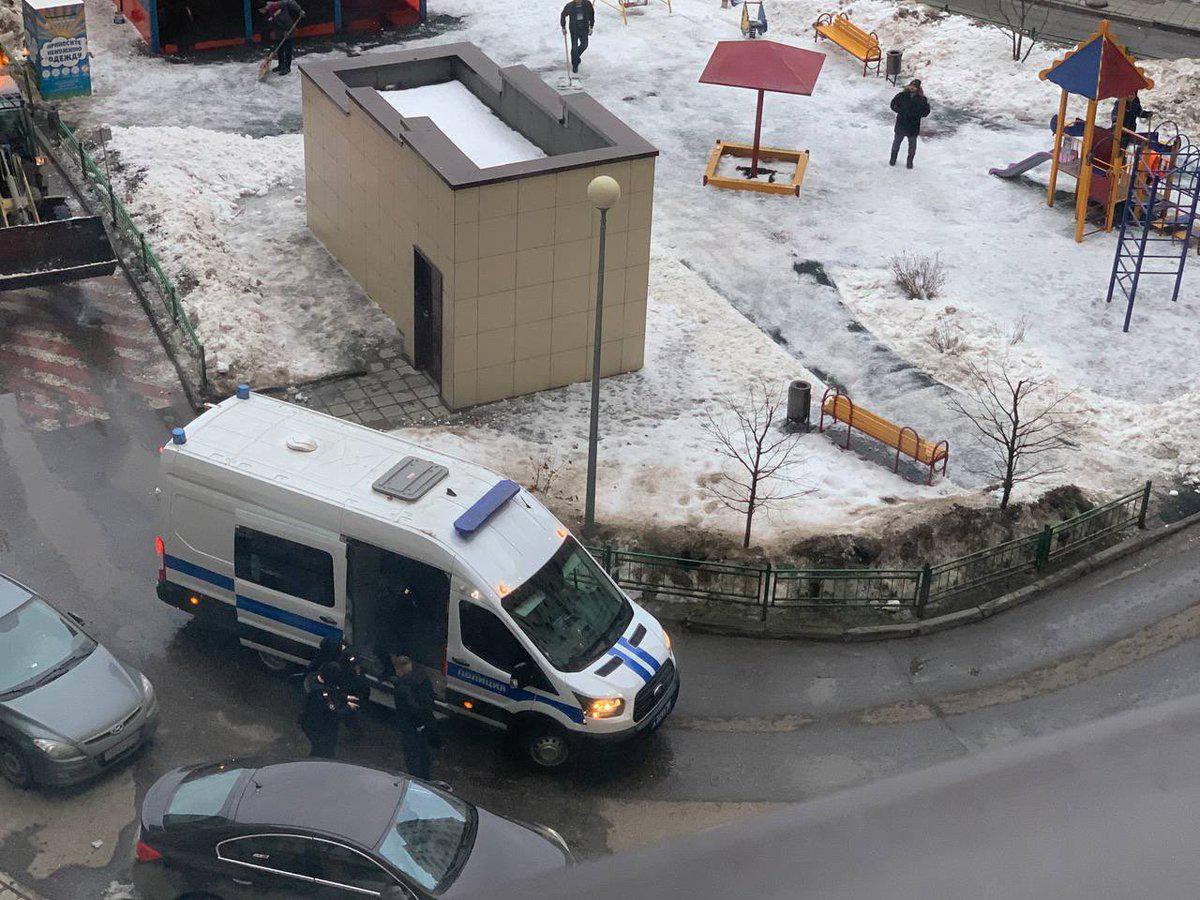 Обыск в квартире Навального