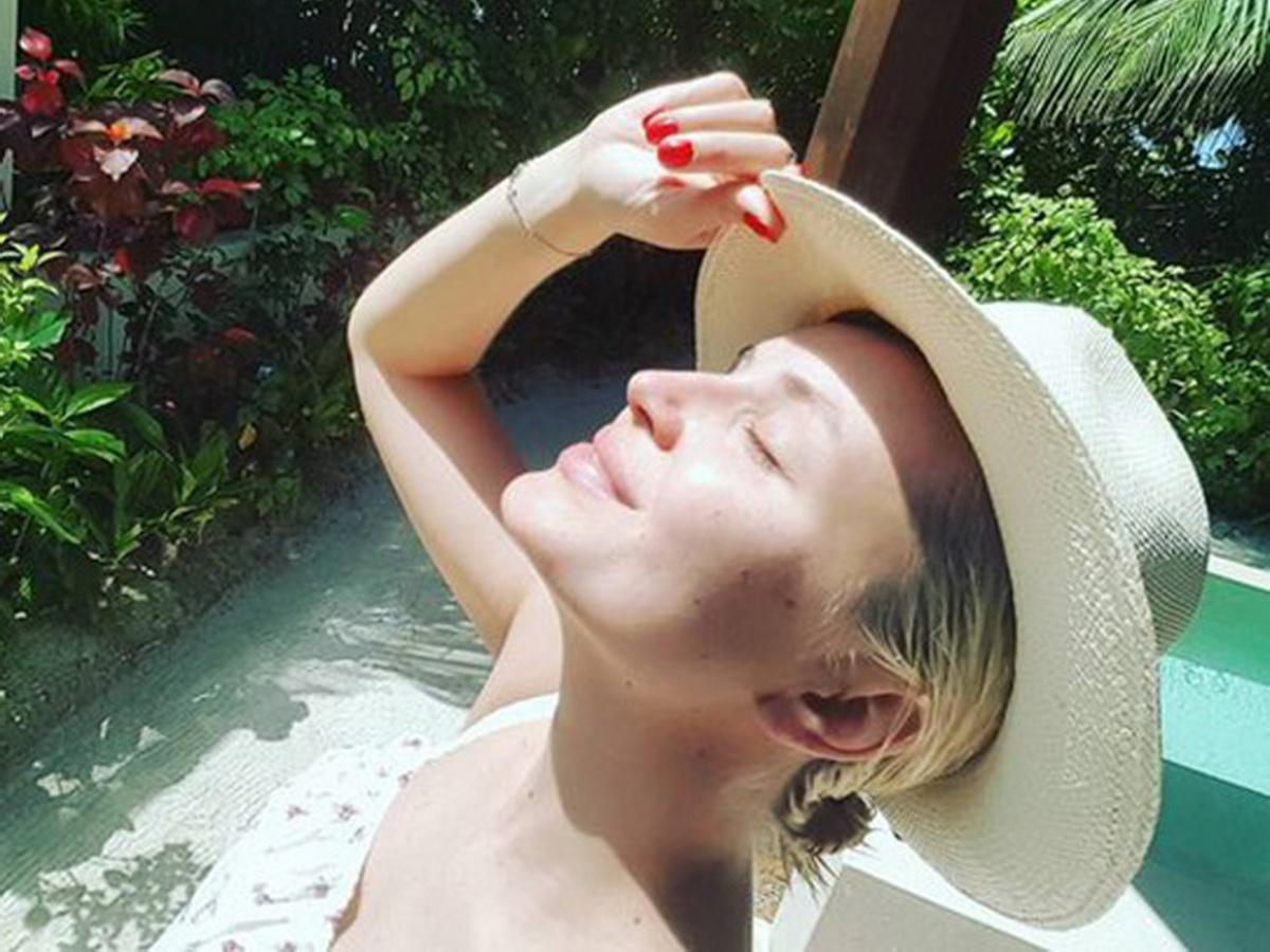 Полина Гагарина на Мальдивах
