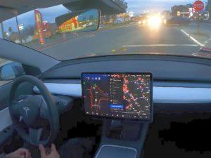 Поездка Tesla Model 3 из Сан-Франциско в Лос-Анджелес