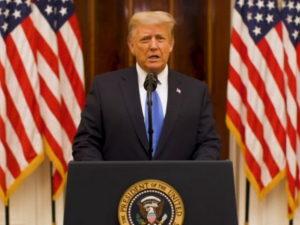 Дональд Трамп выступил с прощальной речью