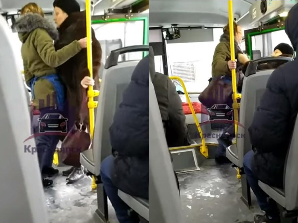 В Красноярске кондуктор на пинках выгнала из автобуса пенсионерку без маски
