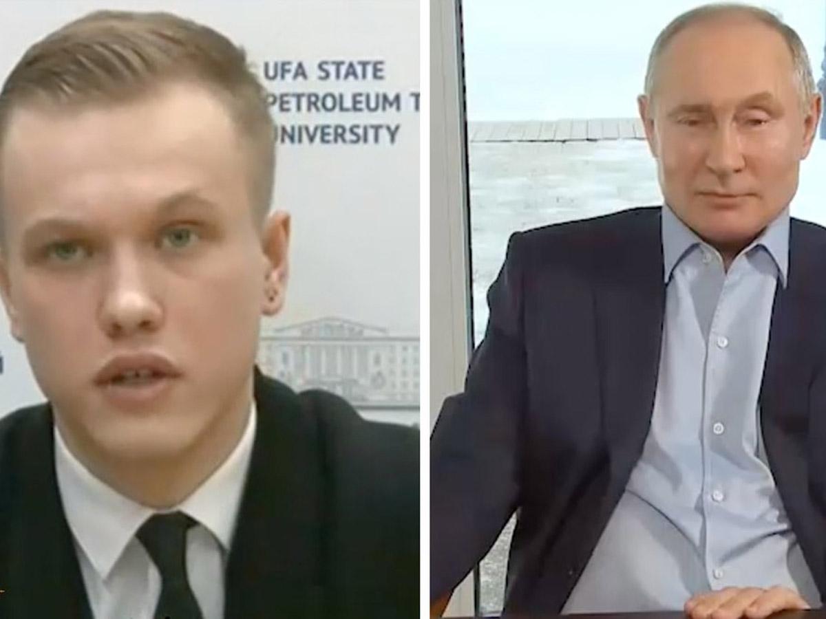Задавший вопрос Путину о «дворце» студент сделал заявление