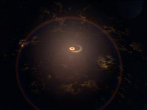 Ученые показали черную дыру, которая напоминает о себе раз в четыре месяца
