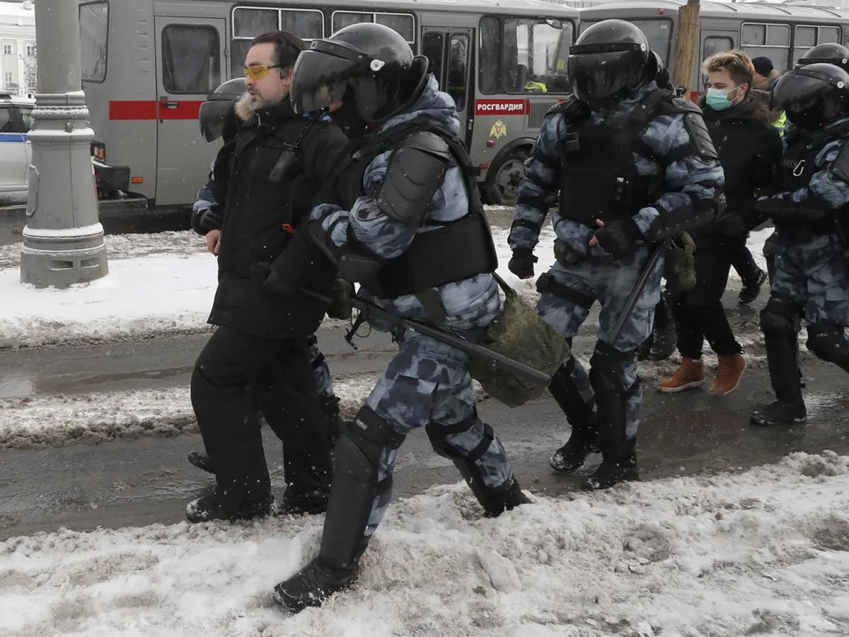 Акции протеста в России 31 января