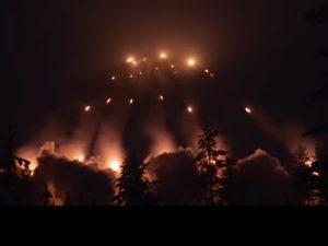 Видео залпа у границ РФ