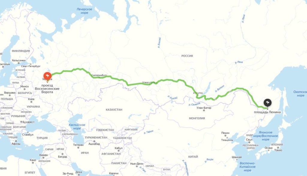 Таксист довез пассажира из Москвы до Хабаровска за 250 тысяч рублей