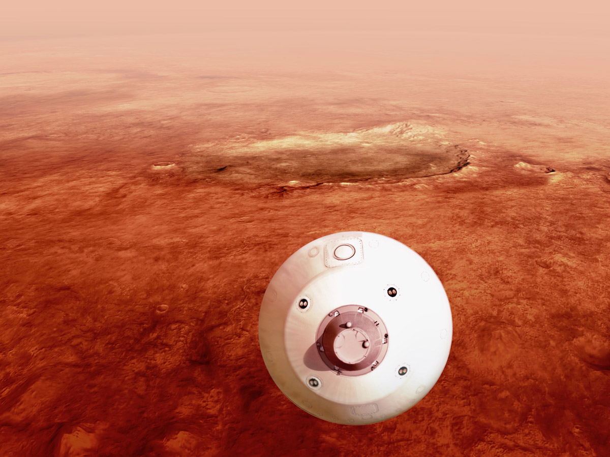 Американский марсоход совершил посадку на Марс