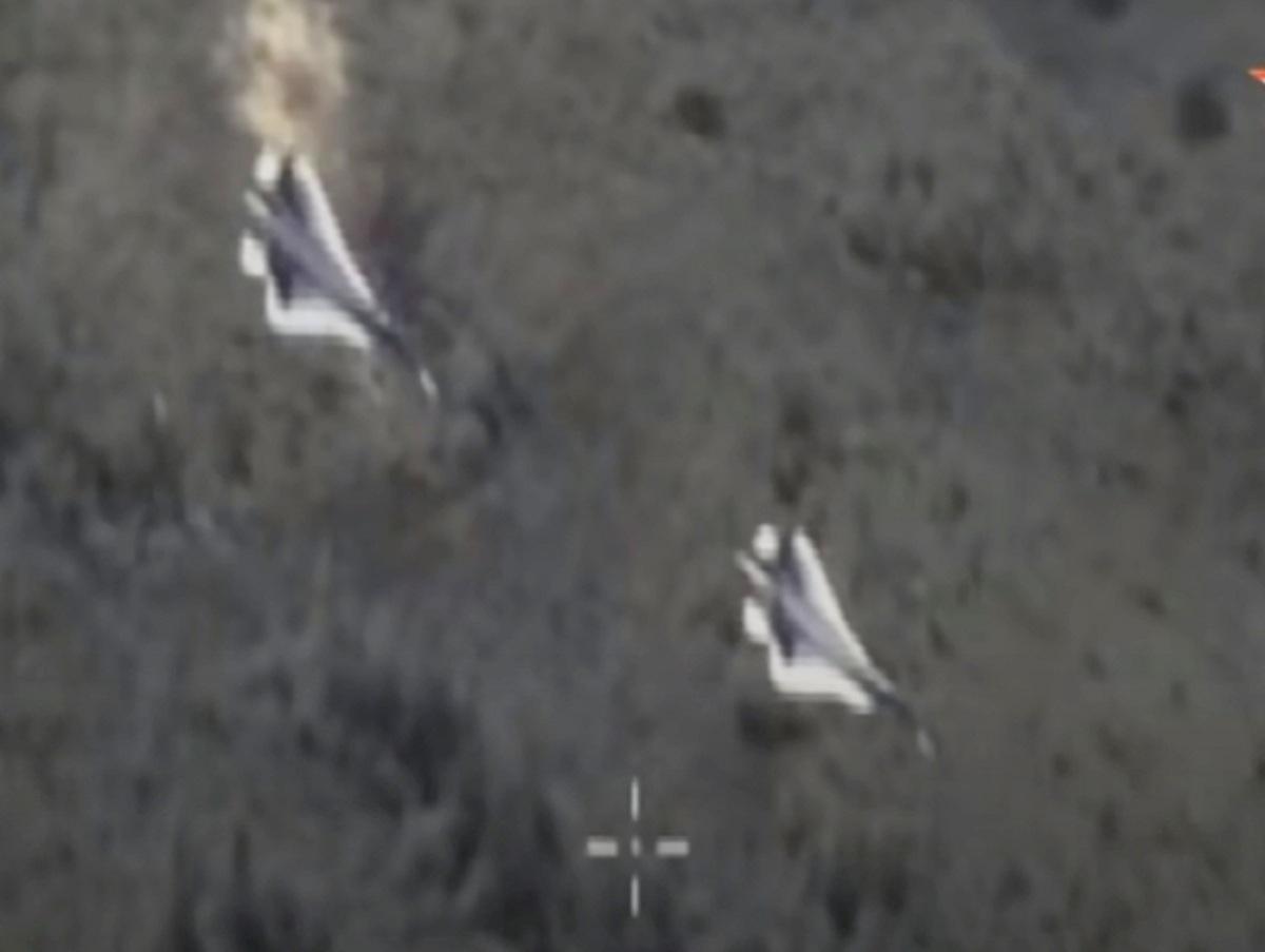 Беспилотник заснял боевой разворот Су-57 на видео