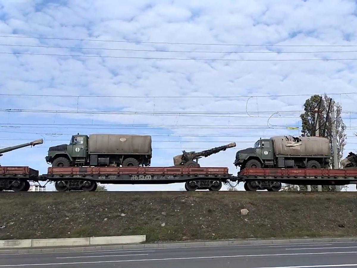 Переброска техники ВСУ на Донбасс