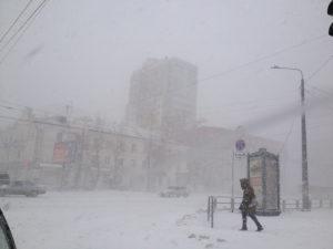 Метель в Челябинске