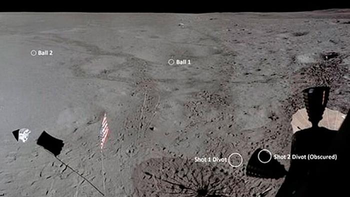 Мяч для гольфа на Луне