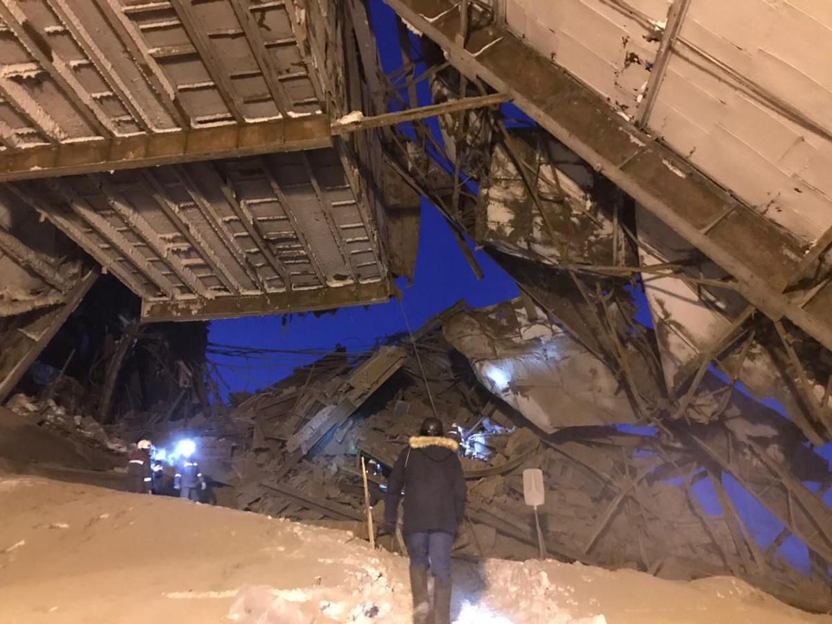 Обрушение на фабрике в Норильске