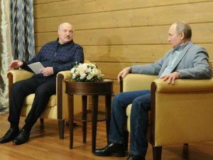 Путин и Лукашенко в Красной Поляне