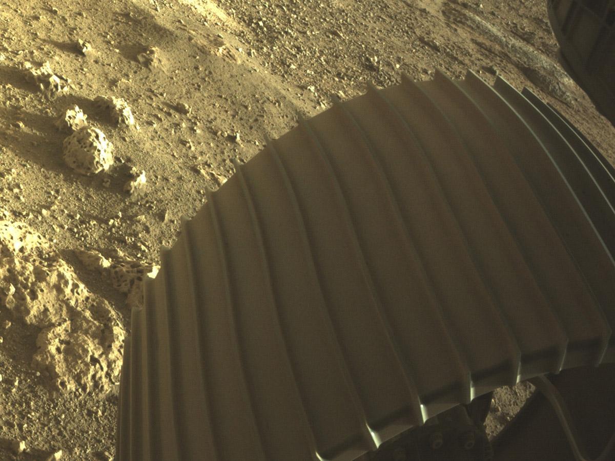 Ровер Perseverance сделал первые цветные снимки Марса
