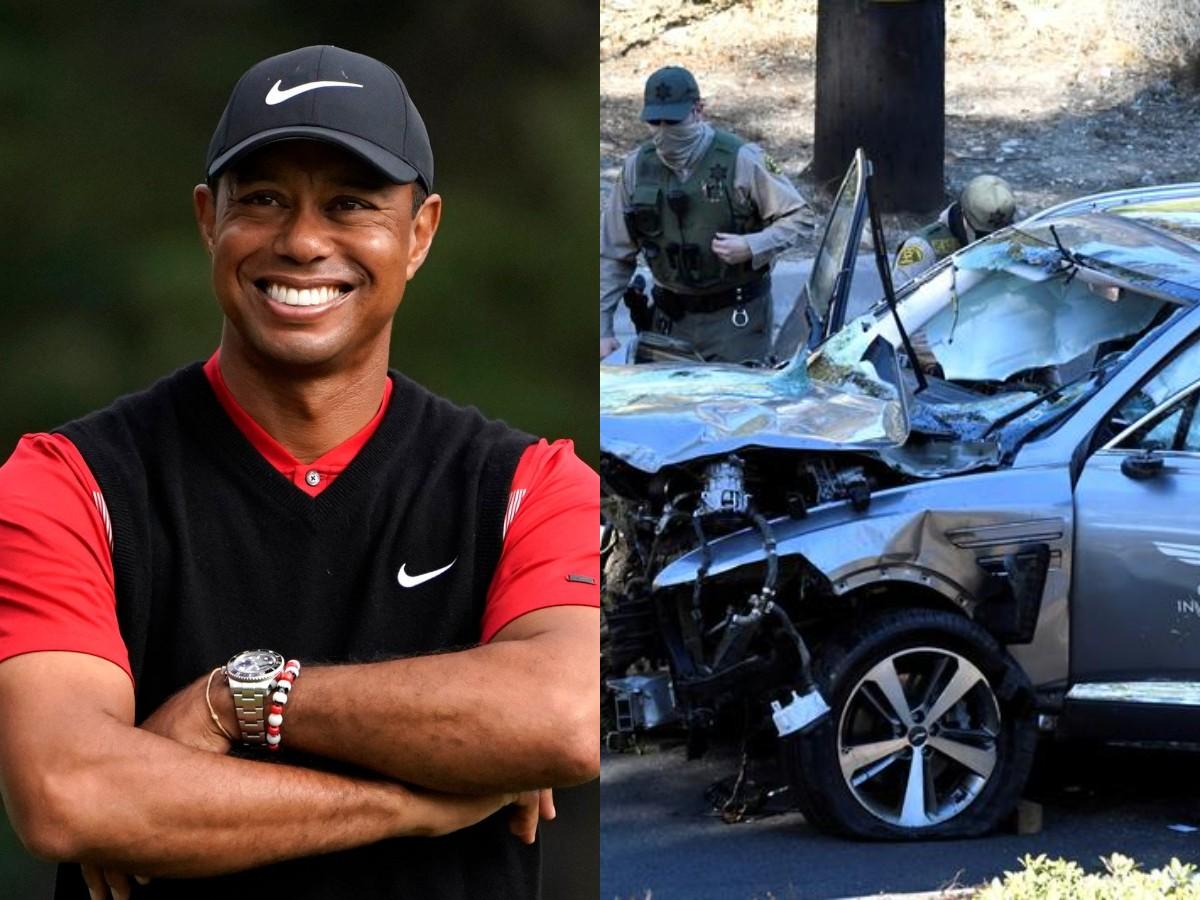 45-летний гольфист Тайгер Вудс разбился в автомобиле, переломав себе кости