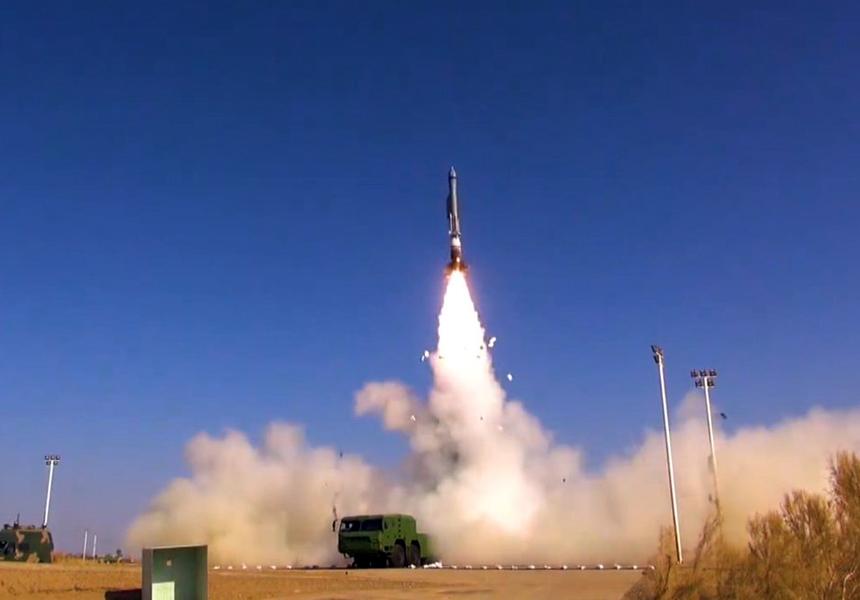 В Сети появилось видео испытаний гиперзвуковой баллистической ракеты