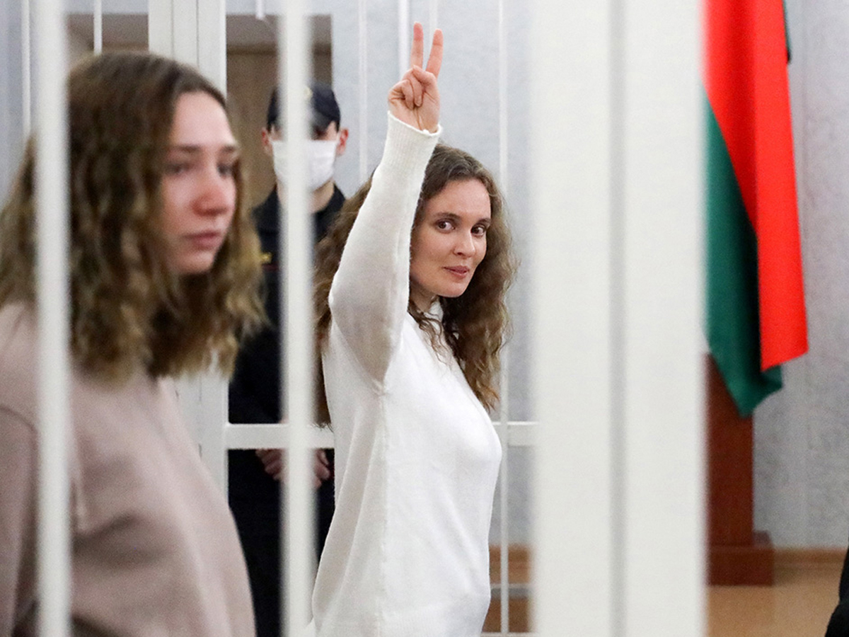 Журналистки «Белсата» получили два года за стрим протестов в Минске