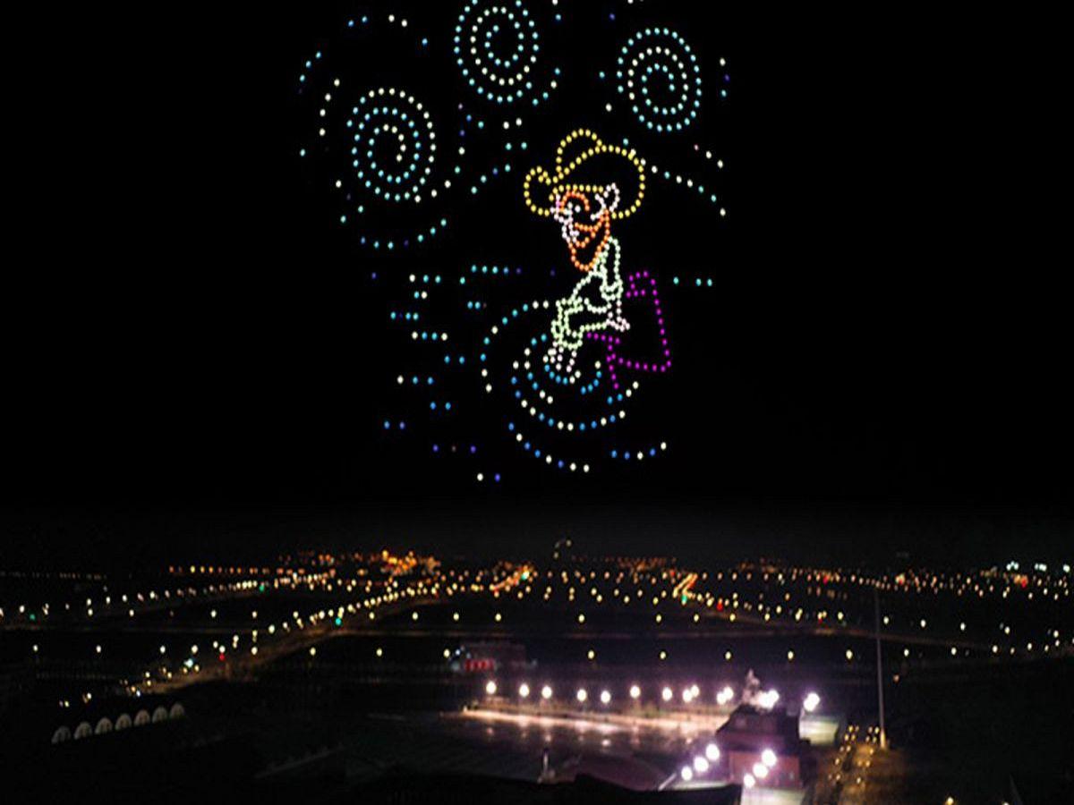 С помощью дронов и картин ван Гога установили мировой рекорд