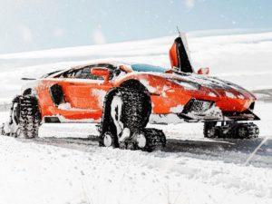 Lamborghini on Snow Tracks is a Disaster
