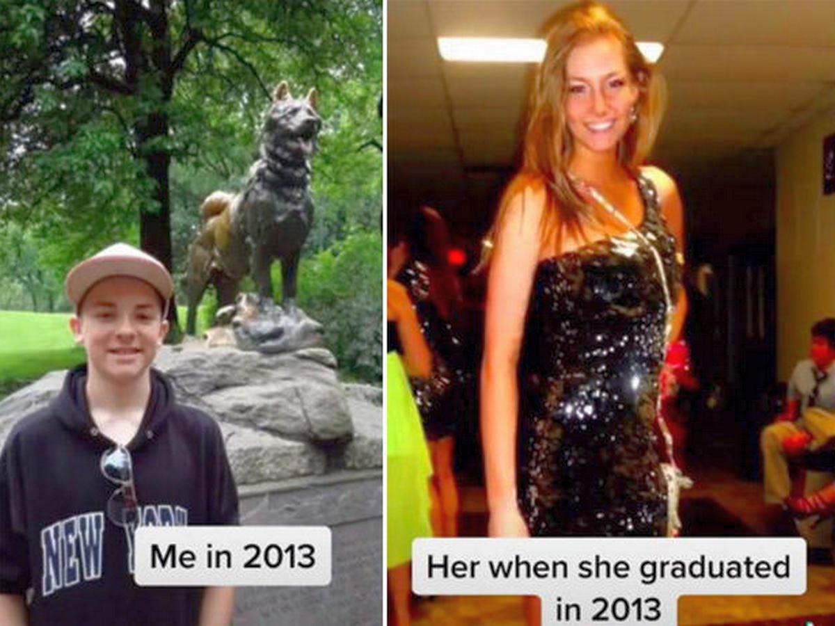 Блогер насмешил пользователей, сравнив фотографии себя и невесты в юности
