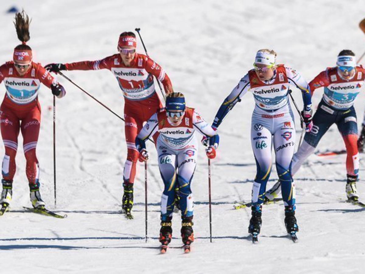 Лыжные гонки эстафета