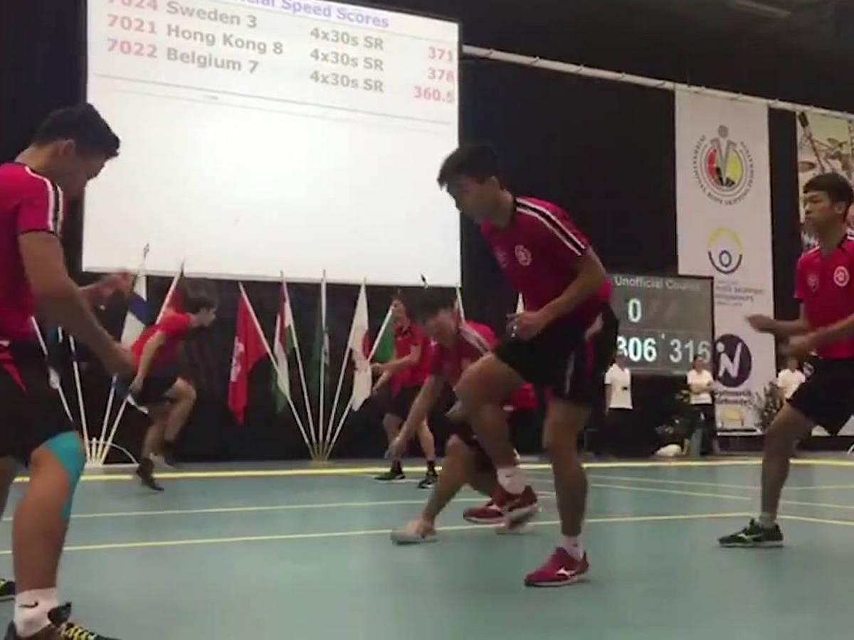 Видео с турнира по прыжкам через двойную скакалку собрало более 200 тысяч просмотров