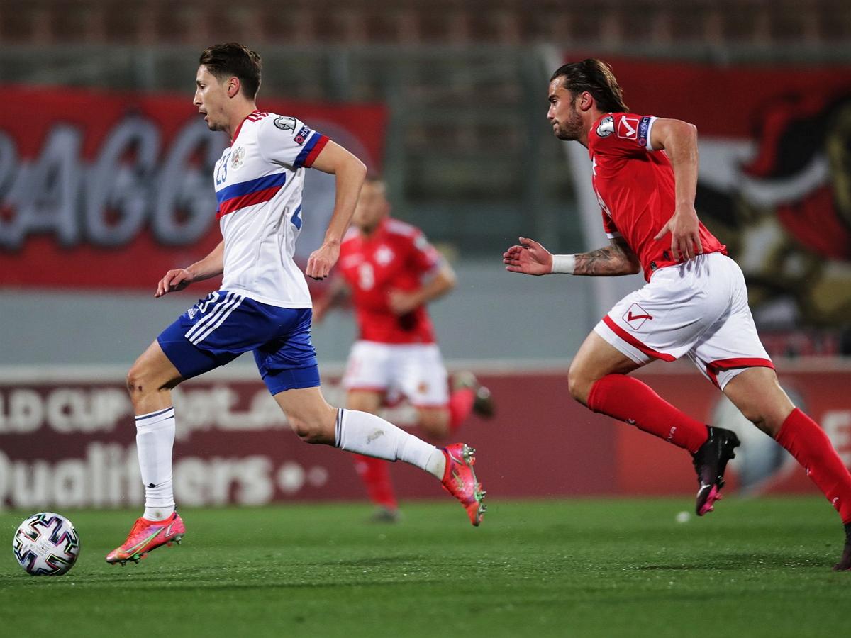 Россия обыграла Мальту со счетом 1:3 в отборочном матче ЧМ-2022