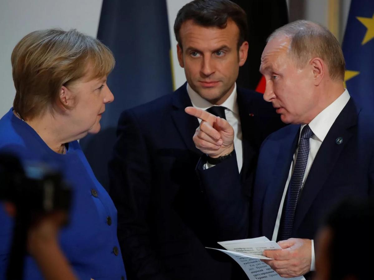 Меркель Путин Макрон