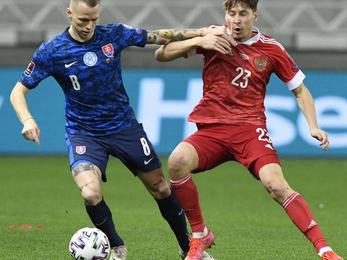 Россия проиграла Словакии в отборочном матче ЧМ-2022
