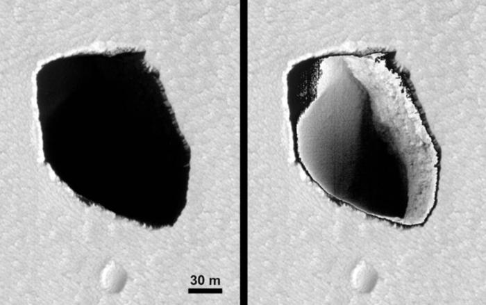 Тоннели на Марсе