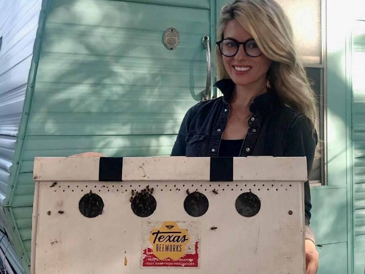 Американка голыми руками перенесла пчел в улей и стала интернет-звездой