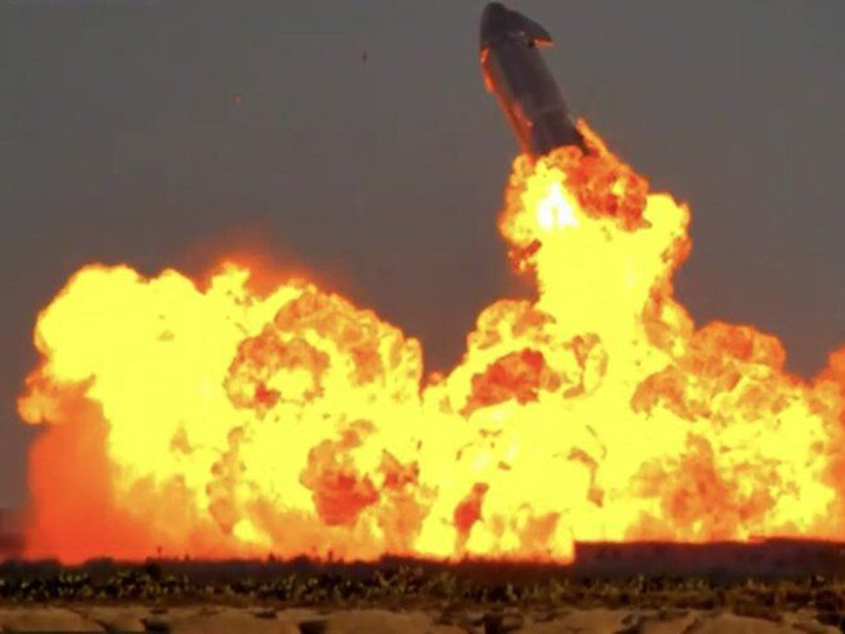 Прототип корабля Starship взорвался после посадки в Техасе