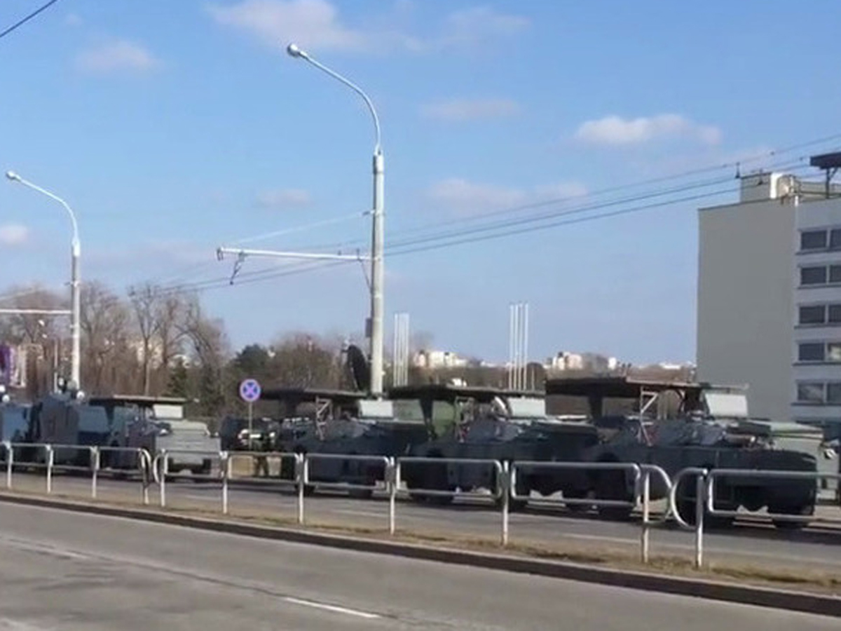 резиденция Лукашенко в Минске спецтехника