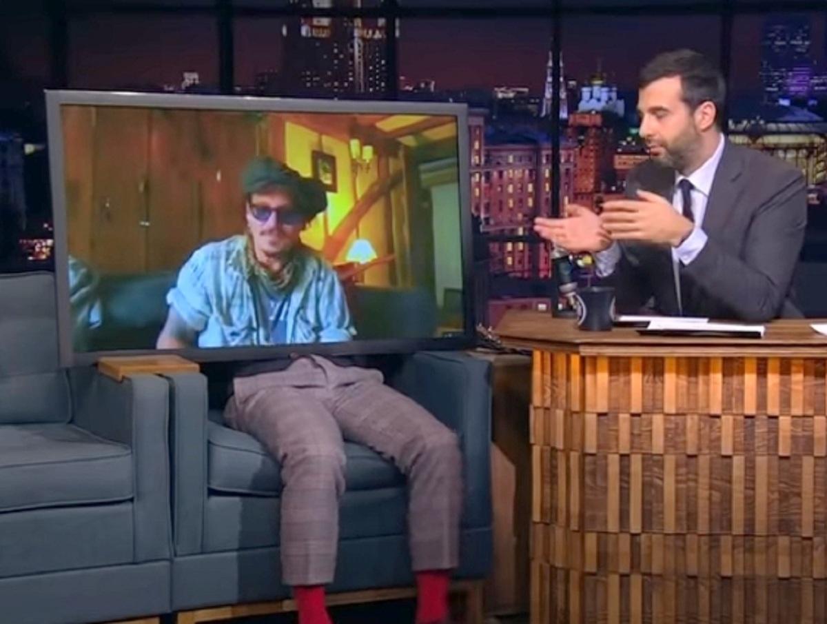 Затравленный Джонни Депп снялся в «Вечернем Урганте» после скандала с Эмбер Херд