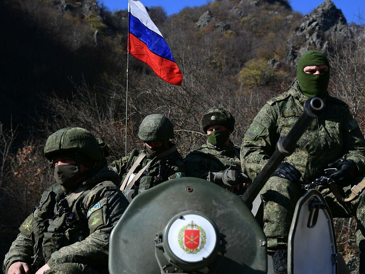 Российские военные в Нагорном Карабахе