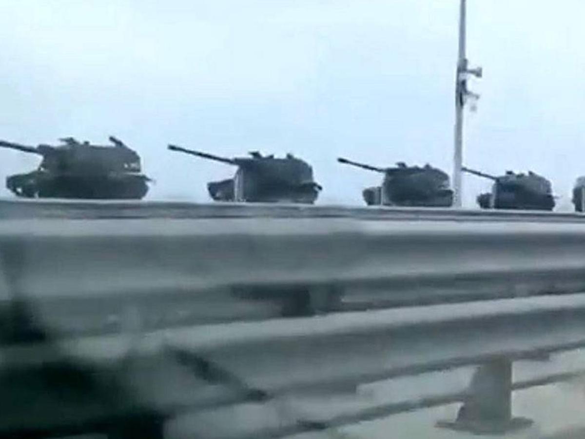 Переброска военной техники РФ