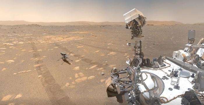 NASA опубликовало совместное селфи ровера Perseverance и вертолета Ingenuity