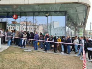 Turkish Airlines огромные очереди туристов