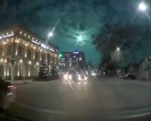 Видео вспышки в небе над Киргизией, Узбекистаном и Казахстаном собрало около 12 тыс. просмотров