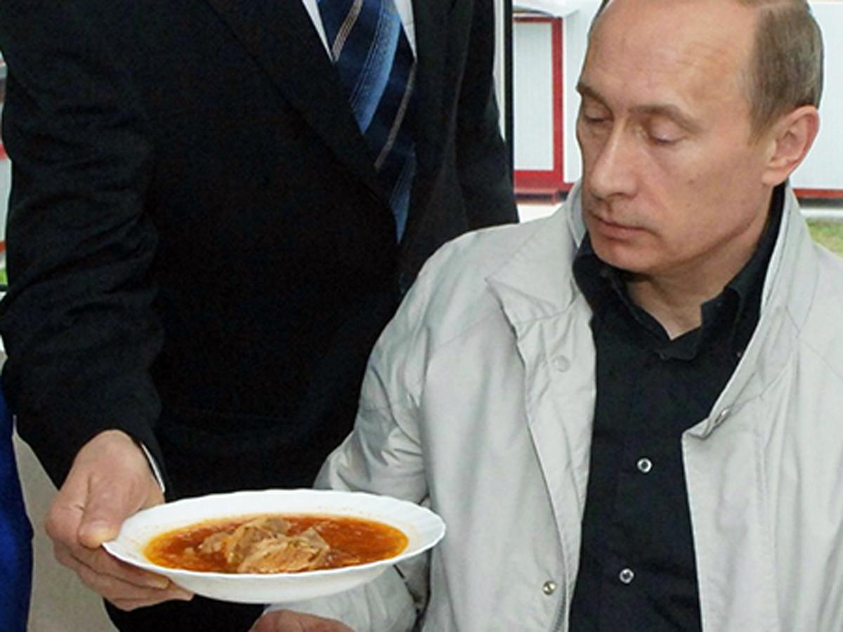 отношение Путина к борщу
