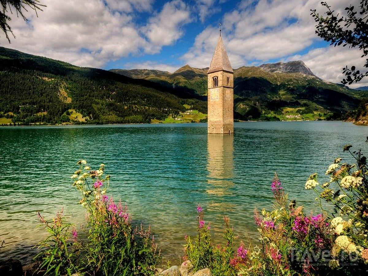 Затопленная 70 лет назад деревня появилась из-под воды в Италии