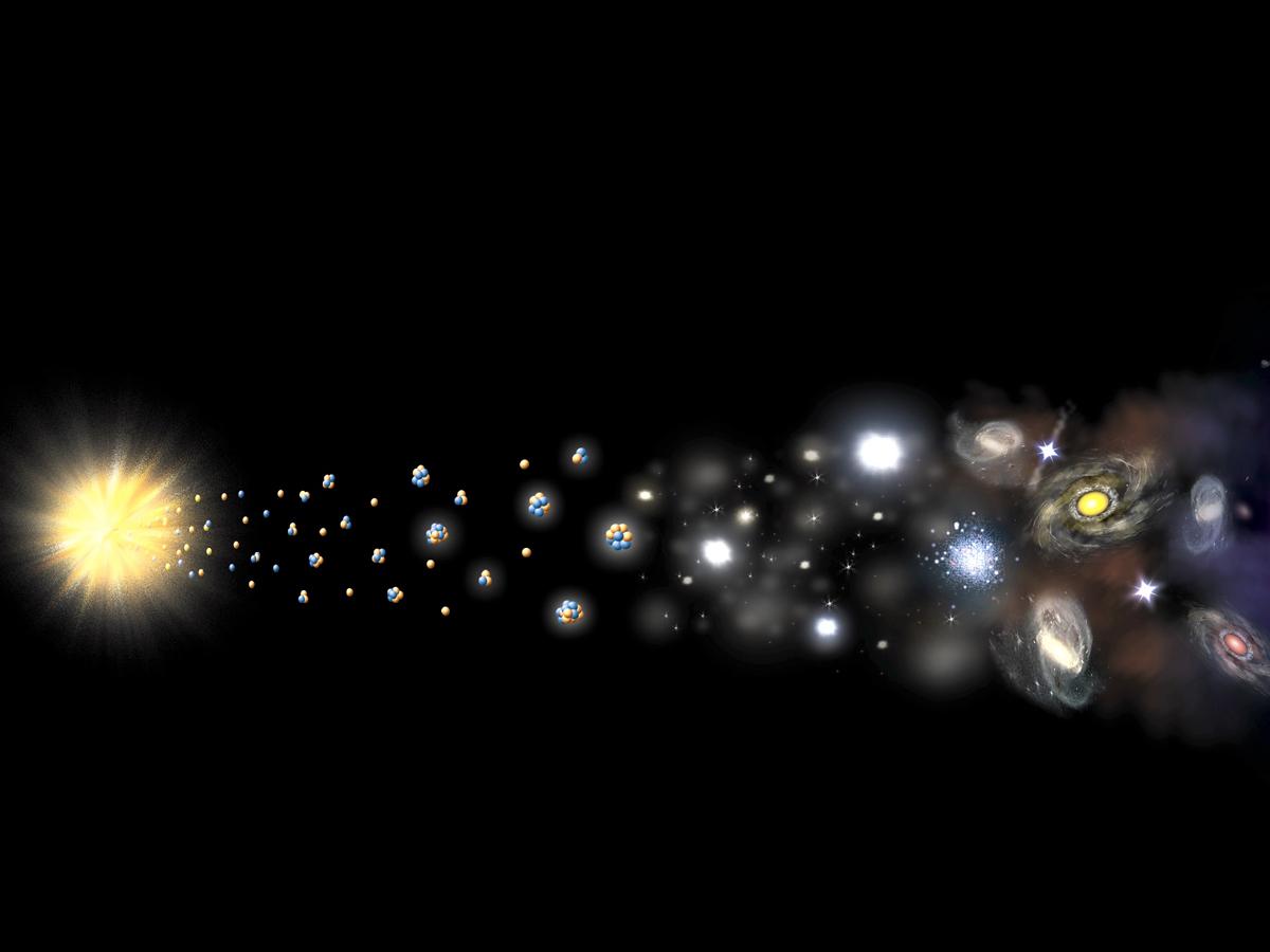 Физики установили, что происходило в первую микросекунду Большого взрыва