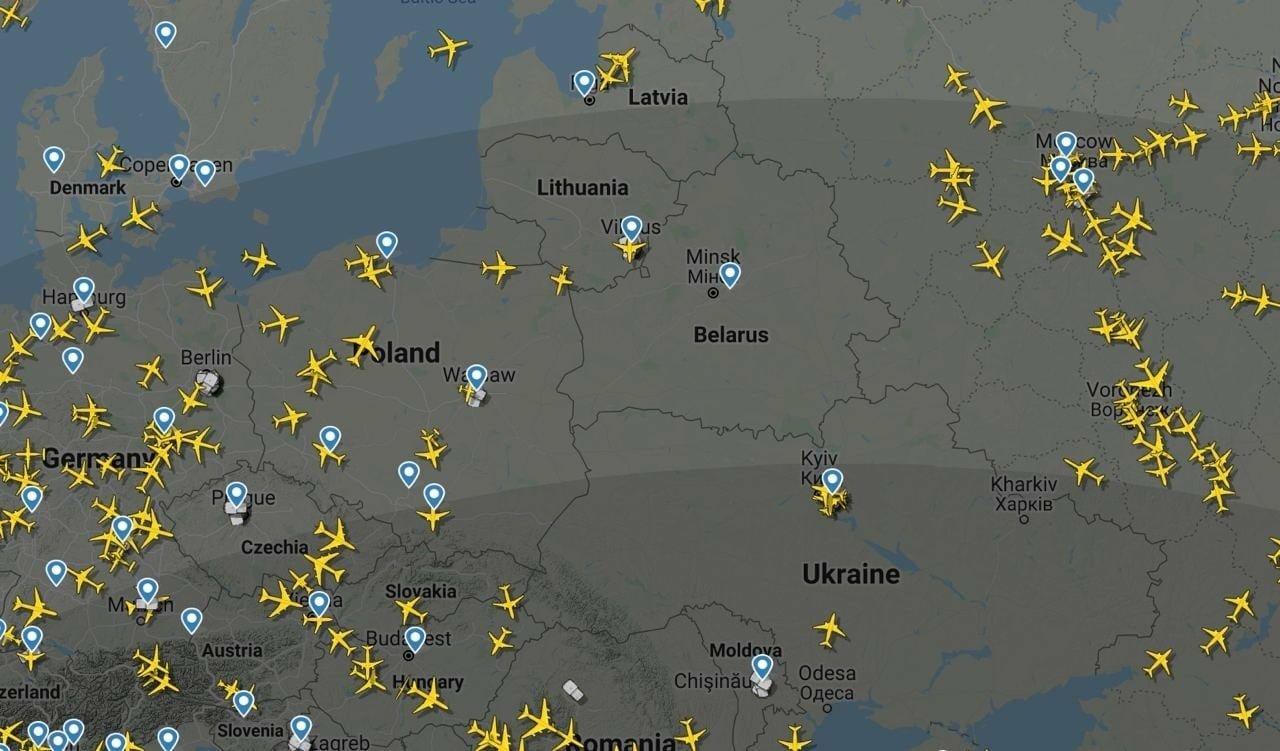 Карта Flightradar