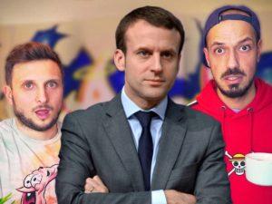 Макрон принял участие в «шоу анекдотов» французских блогеров