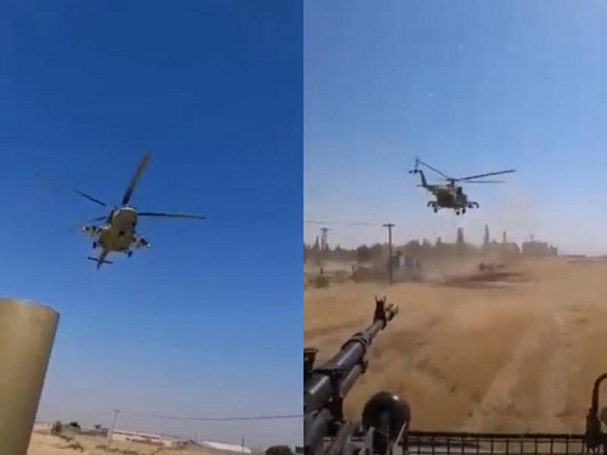 Ми-24 бегство Апачей США