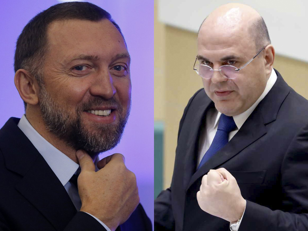 Олег Дерипаска Михаил Мишустин