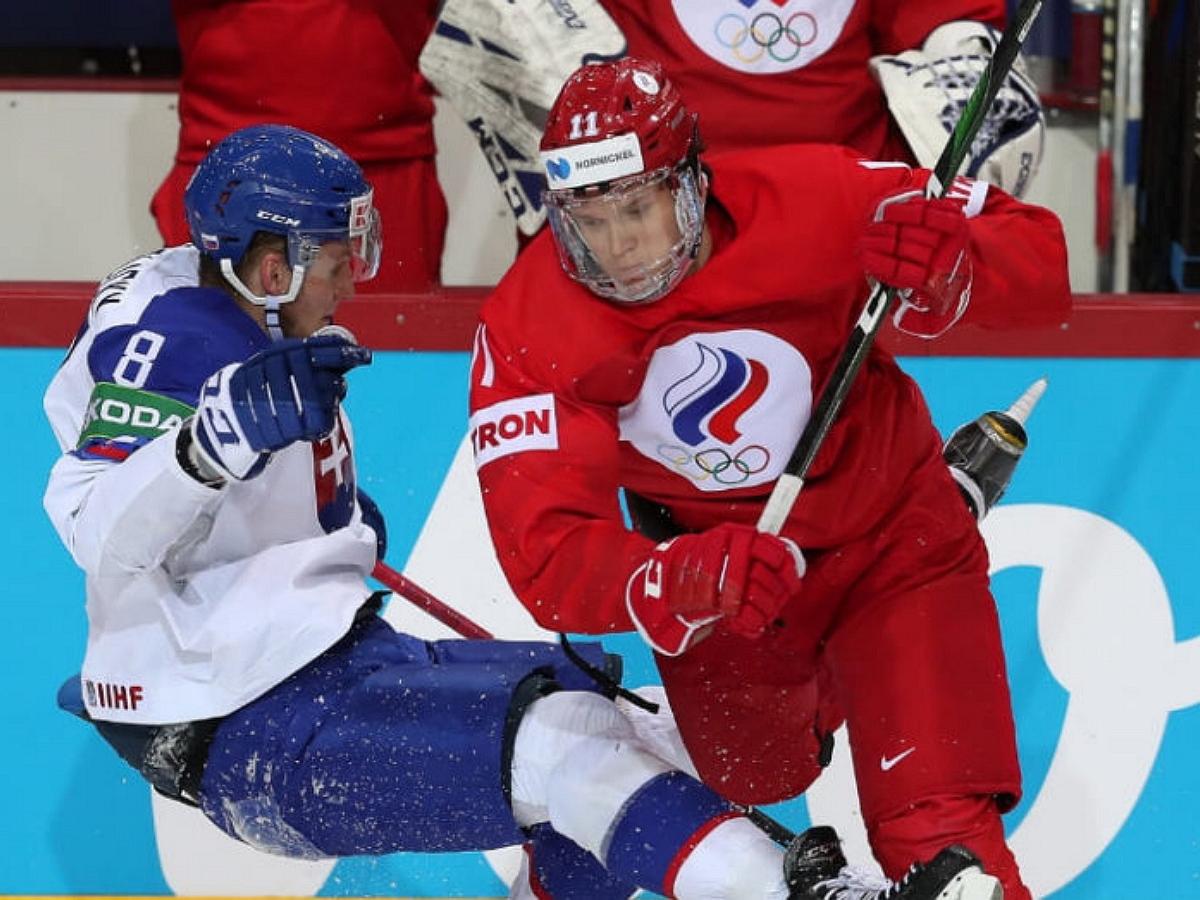 Россия обыграла Данию, одержав третью победу на ЧМ по хоккею