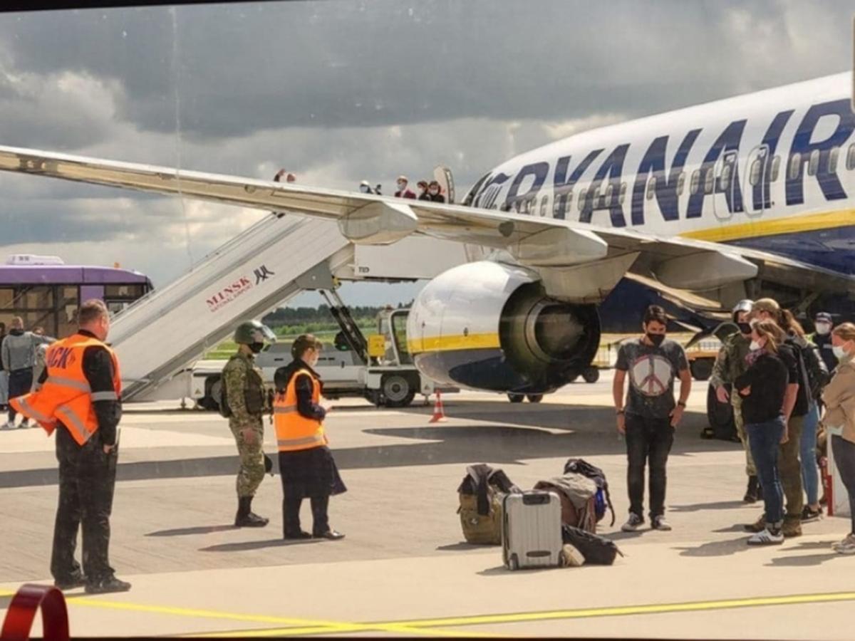 Самолет с Романом Протасевичем на борту
